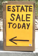 Estate Liquidation Sign in Las Vegas